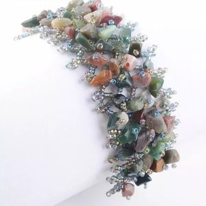 Handmade Indian Agate Bracelet